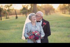 Aunque se casaron hace 70 años, hasta ahora tuvieron sus fotos de bodas. ¡Una pareja increíble!