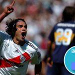Así celebró Falcao García el triunfo del River Plate, uno de los equipos que lo enamoran