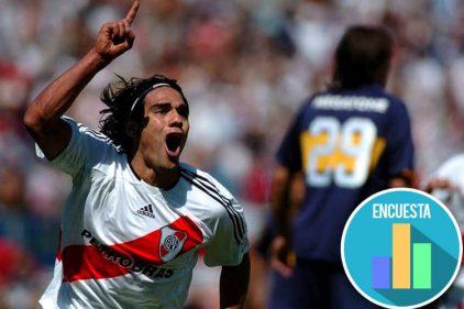 Así celebró Radamel Falcao García el triunfo del River Plate, uno de los equipos que más lo enamoran