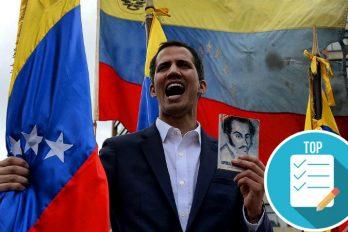 Juan Guaidó se proclamó ante miles de personas como el presidente interino de Venezuela