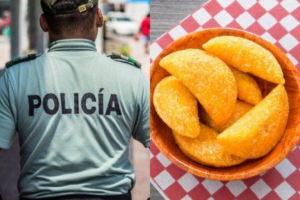Un gran operativo policíaco se desplegó para quitarle a un vendedor su olla de empanadas