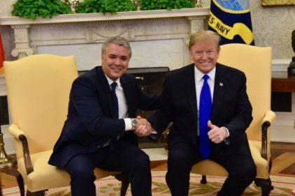 Durante el encuentro entre Duque y Trump, el mandatario estadounidense elogió a una empresa colombiana