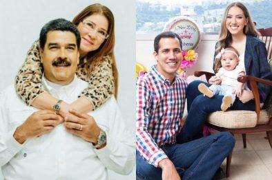 Las mujeres tras el poder en Venezuela, ellas son las esposas de Maduro y Guaidó