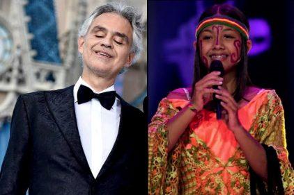 El tenor italiano Andrea Bocelli quedó enamorado de 'La princesa Guajira' y le envió un mensaje