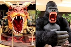 Un dragón y un gorila gigante se toman Bogotá ¡Sorpréndete!