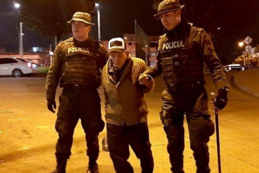 La cara más amable de la Policía durante las manifestaciones en Colombia