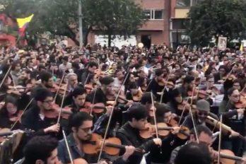 'Cacerolazo sinfónico' conmovió en las manifestaciones del paro nacional