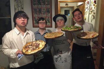 Cuatro amigos con Síndrome de Down fundan una pizzería y es todo un éxito