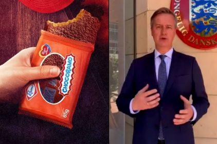 Así reaccionó el embajador de Dinamarca al probar el Chocoramo