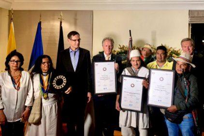 Guardia indígena colombiana recibe mención de honor por preservar la vida