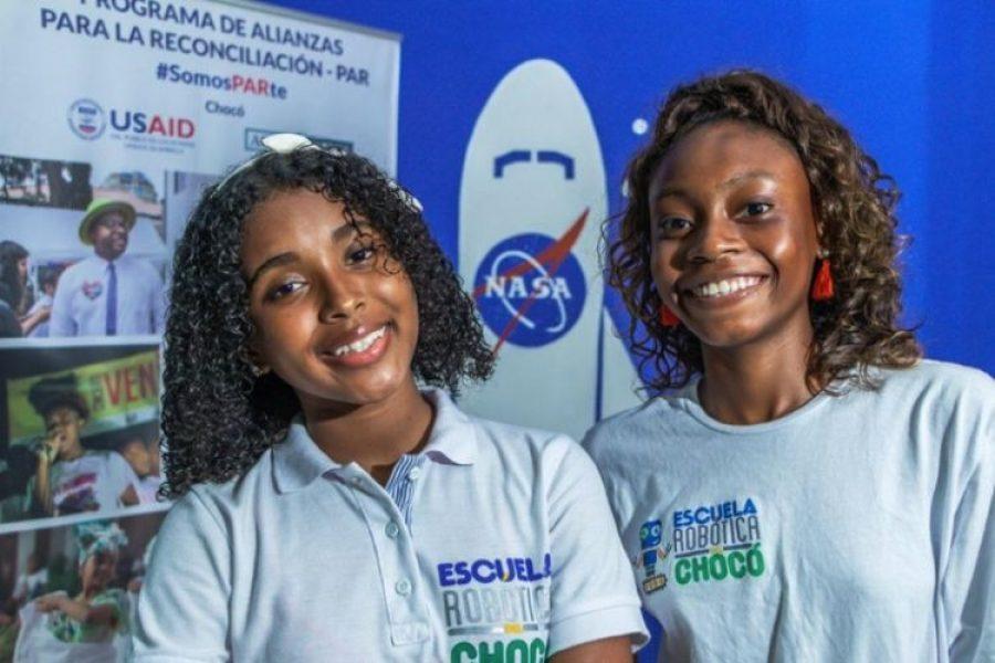 Dos niñas chocoanas visitarán la NASA gracias a su talento y empoderamiento