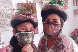 Elaboran tapabocas con diseños indígenas para evocar su cultura