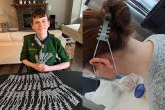 Niño creó y donó protectores auditivos para máscaras del personal de salud en COVID-19