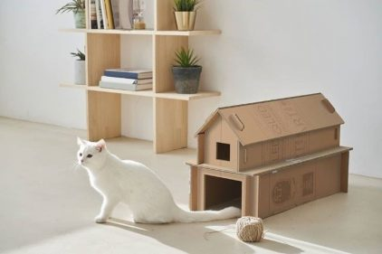 Lanzan cajas de televisores que se pueden convertir en casas para gatos…y hasta más