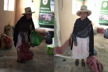 """""""Disculpen que no traiga más"""": anciana que dona cosecha a necesitados por COVID-19"""