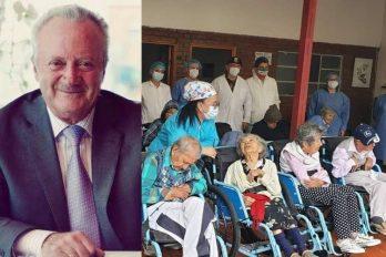 Fundación Arturo Calle dona sillas de ruedas en un ancianato en medio del COVID-19