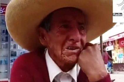 El drama del anciano que llora porque sus hijos le exigen repartir su herencia en vida