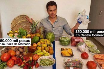 La diferencia de compras en plazas de mercado y centros comerciales ¡Cruda realidad!