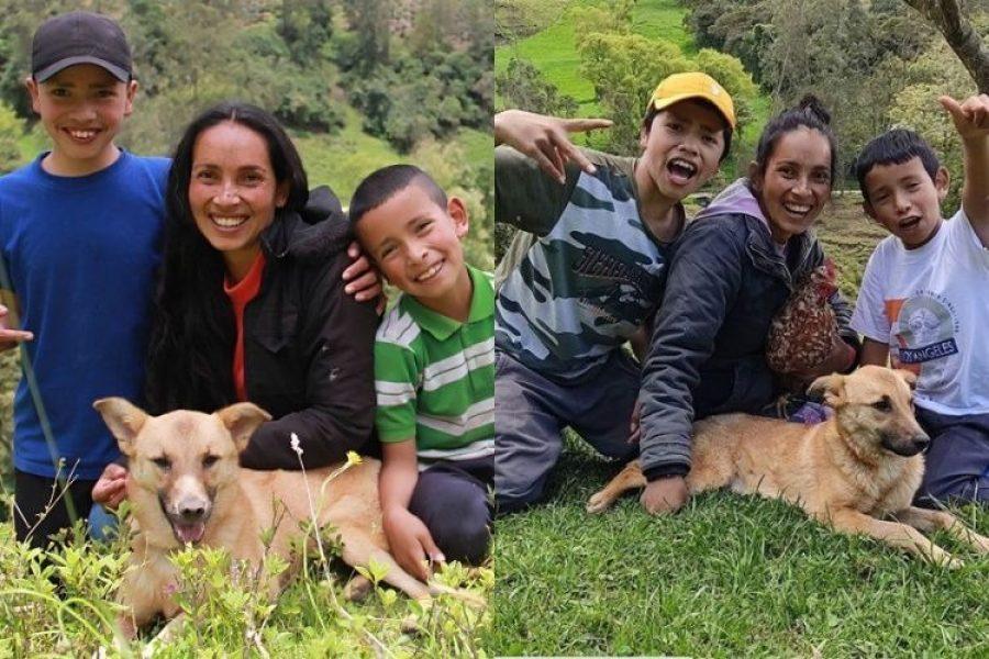 Tras ser envenenada integrante de familia de youtubers campesinos le rinden un homenaje