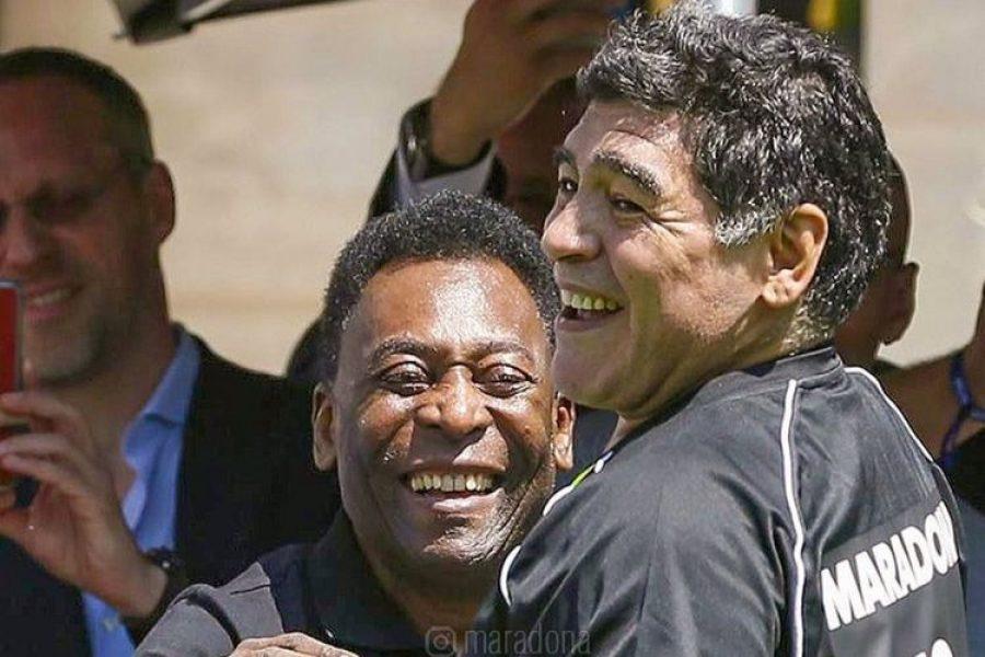 El último mensaje de Pelé a Maradona: un sueño que esperan cumplir ambos