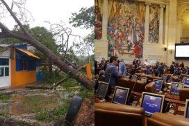 Proponen donación del salario de congresistas para damnificados del huracán