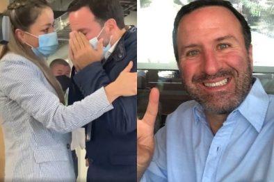 Entre lágrimas, Felipe Arias regresó al trabajo luego de haber ingresado a urgencias