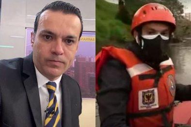 Juan Diego Alvira se unió a la búsqueda en lancha de Sara Sofía en río Tunjuelo y fue tendencia