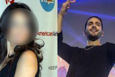 Maluma generó la euforia de una conocida actriz mexicana durante concierto