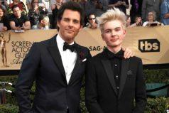 Actor de X Men presentó a su hijo de 15 años en los SAG Awards