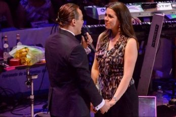 Cristian Castro le pidió matrimonio a su novia en pleno show y el video se viralizó