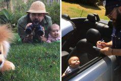 Este papá toma hilarantes fotografías con su niña en disfraces, son lo más adorable que verás hoy