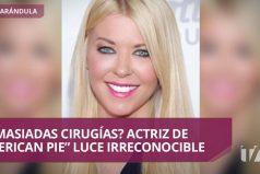 """Actriz de """"American Pie"""" reaparece con rostro irreconocible"""