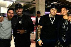 Nicky Jam hace gozar a Neymar y Lionel Messi