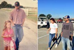 Este papá acompañó a su hija desde su primer hasta su último día de clases