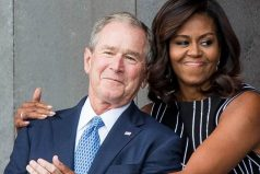 George W. Bush explica la razón de su cariño por Michelle Obama