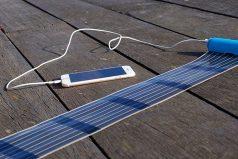 HeLi-on, el cargador solar enrollable de bolsillo