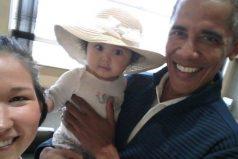 La expresión de esta bebé al conocer a Obama conquista a internet