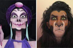 Esta artista se transforma en villanos de Disney usando maquillaje. ¡Ego de 'Ratatouille' es igualito!