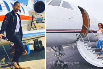 ¡Volando alto! Famosos que cumplieron el sueño de tener su propio jet privado