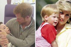 Príncipe Harry sostiene un niño enfermo en sus brazos. Momentos después, prueba que es hijo de Diana