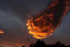 ¿Es esta formación de nubes la mano de Dios?