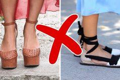 8Tipos decalzado deverano que lehacen daño tus pies