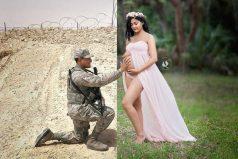 La historia de este soldado y su esposa embarazada te conmoverá