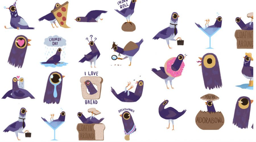 La historia de 'Trash Dove', la paloma púrpura que se volvió viral