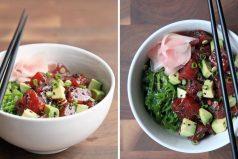 El bol de atún estilo oriental que puedes preparar en 10 minutos y que enloquece a Internet