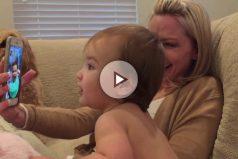 La simpática videoconferencia entre dos bebés